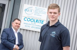 Neil Henry, Director (left) Johnny Wilson, Apprentice Mechanical Services Engineer (right)