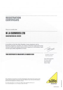 Gas Safe Certificate 31-March-2020