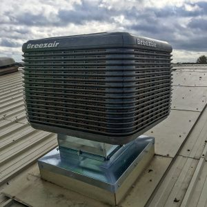 Evaporative Cooler on roof