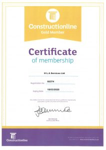 Construction Line Gold Certificate