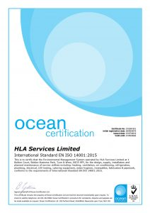 HLA ISO 14001 Certificate 2019